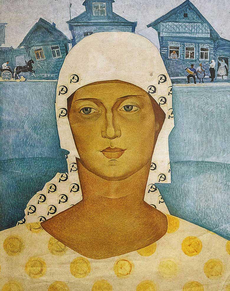 Николай Ионин. Женщина в платочке