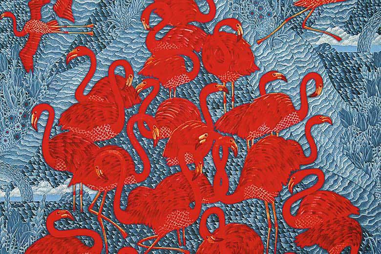 Современный платок Ледяные фламинго Автор Кирилл Овчинников 2015 год