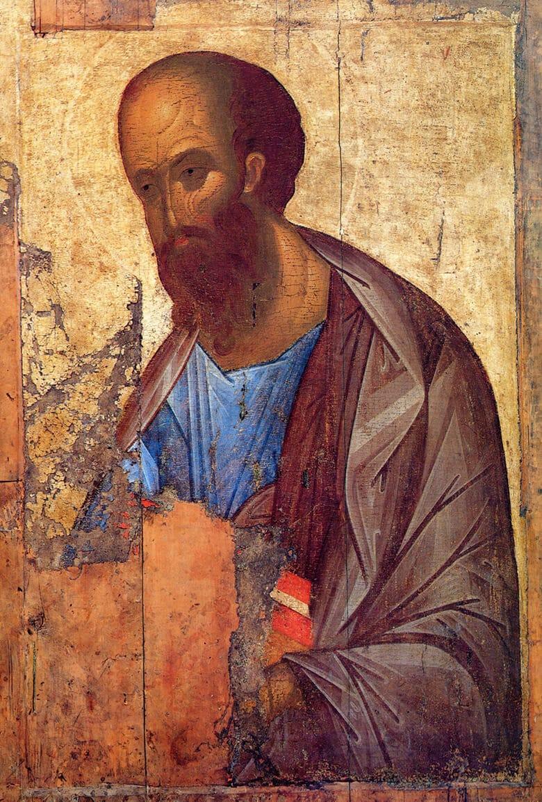 Верховный Апостол Павел, икона. Андрей Рублев