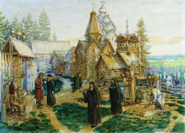 «Троице-Сергиева лавра, 1908-1913». А.М. Васнецов