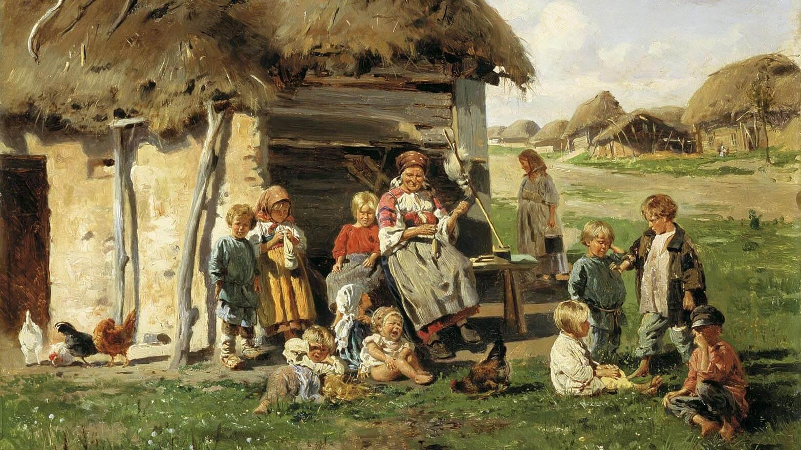 Владимир Маковский. Крестьянские дети (фрагмент). Иван.