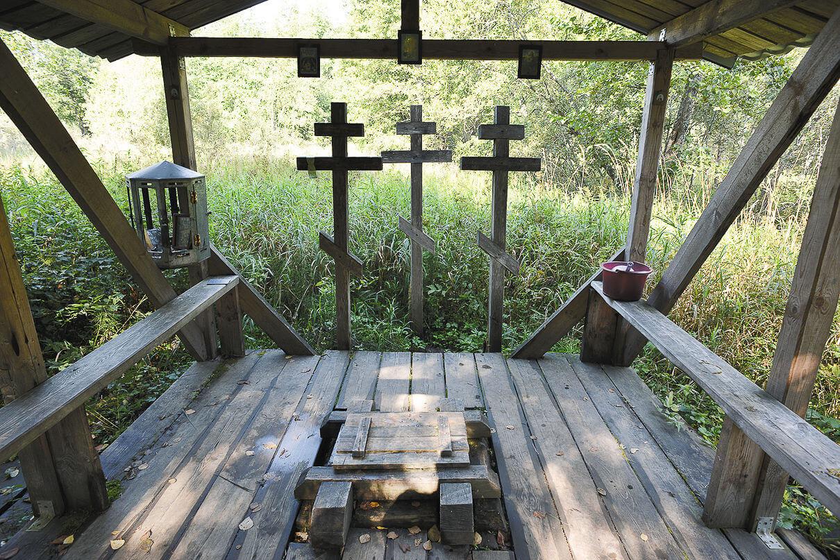 Святой ключик Кибелёк, подле которого, по преданию, похоронены три богатыря