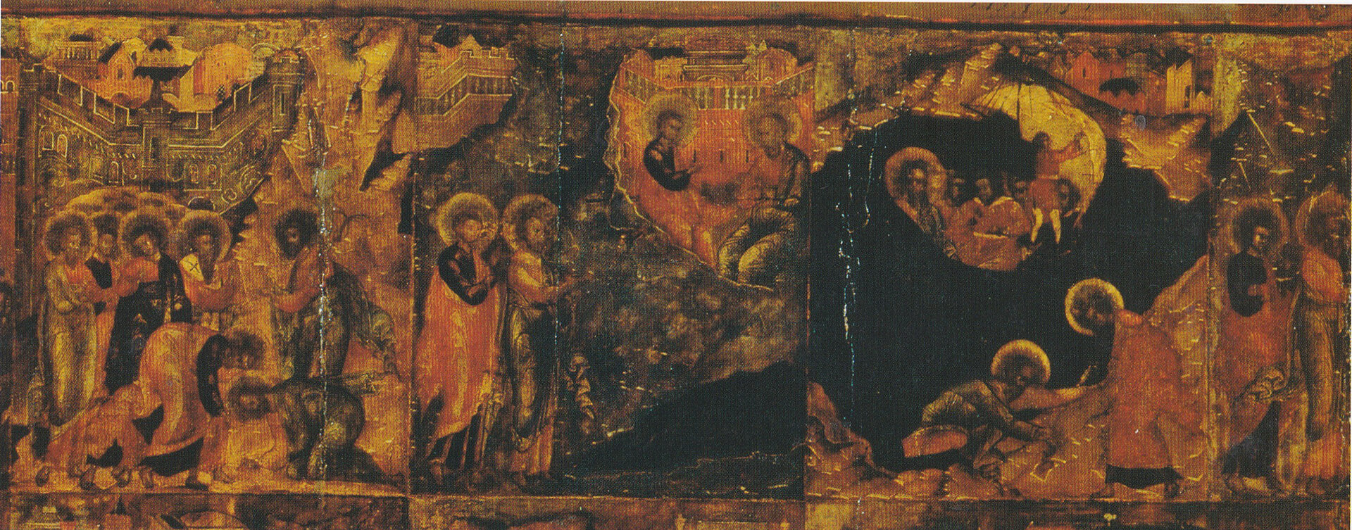 Иоанн Богослов в молчании, в раме с житием в 32 клеймах