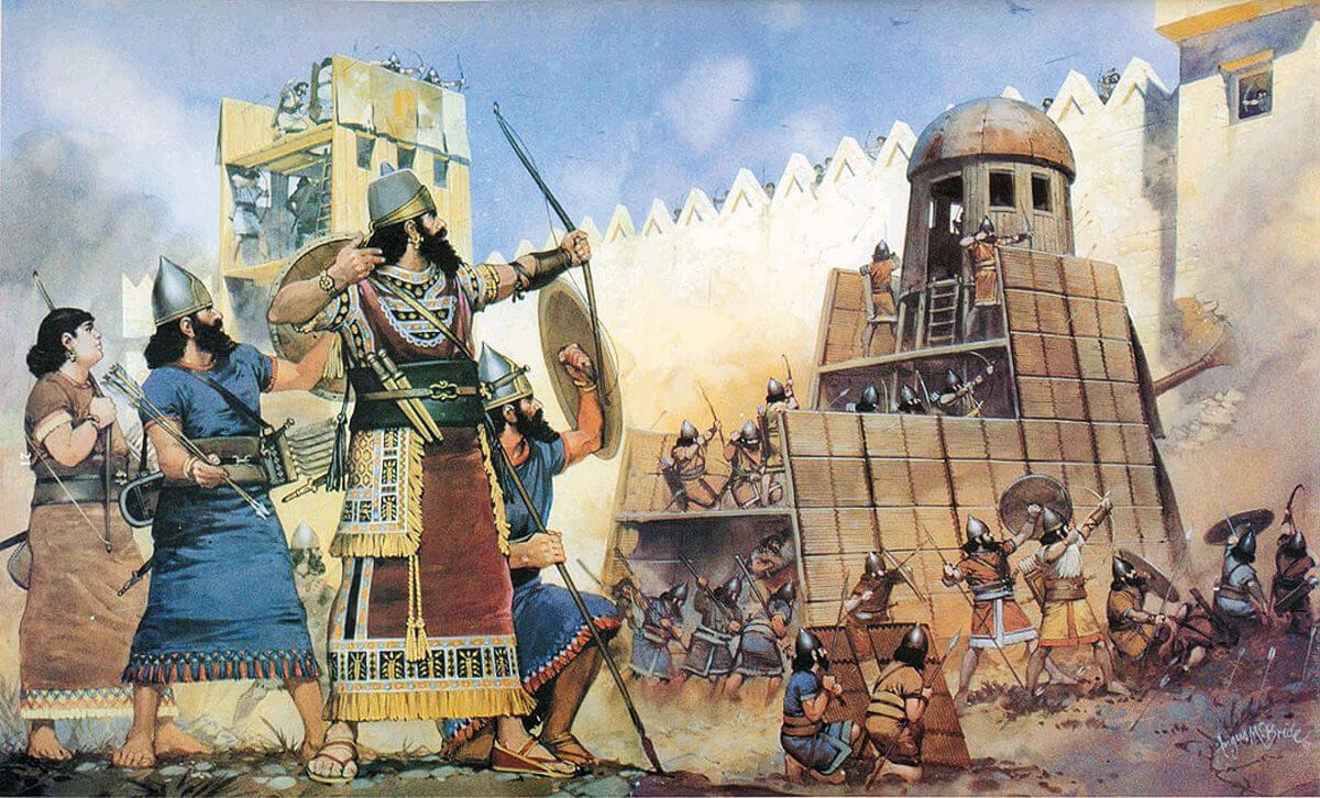 Осада города ассирийским царем Ашшурназирпалом II. IX век до н.э