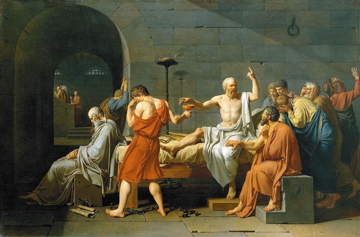 Жак-Луи Давид. Смерть Сократа. 1787 год