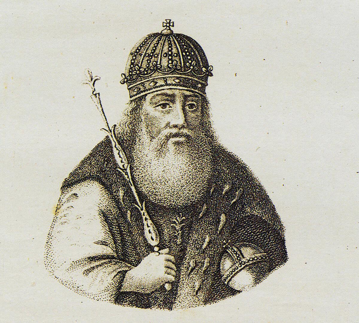 Великий князь Киевский Владимир Святославич. Гравюра неизвестного художника. Середина XIX века