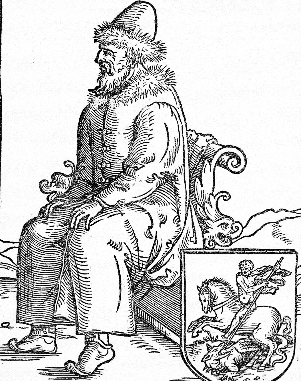 Портрет Василия III. Гравюра 1557 года