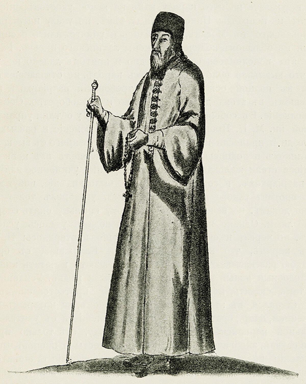 Патриарх Никон (1605–1681). Рисунок из