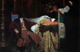 Иван Грозный у тела убитого им сына. Худ. Шварц В.Г. 1864