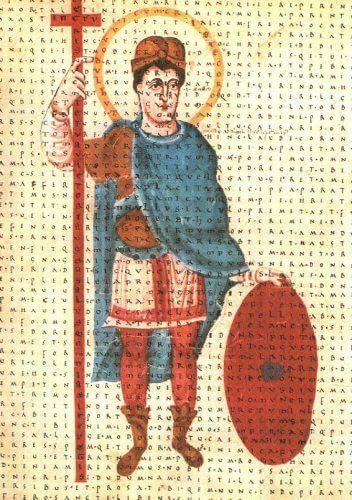 Людовик Благочестивый. Миниатюра. Вена. 831 г.