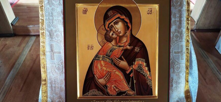 Владимирская икона Божией Матери, храм св. влмч. Георгия, Кызыл