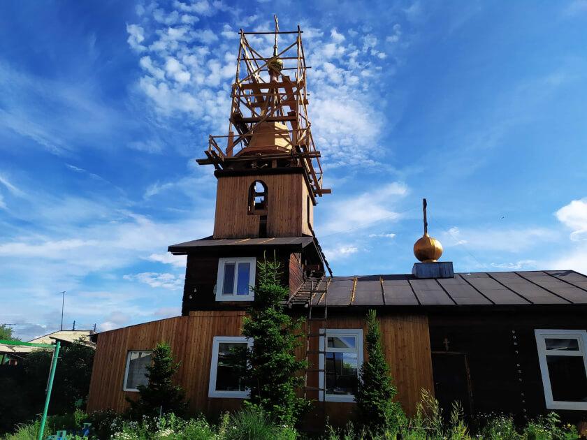 Ведутся работы по реконструкции колокольни