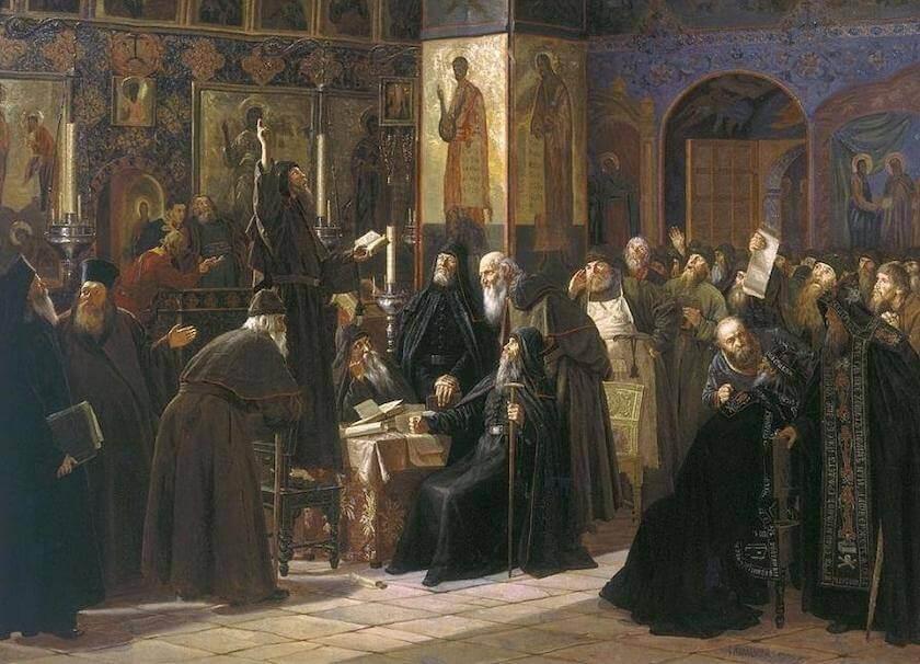 С.Д.Милорадович (1851–1943 гг.). Чёрный собор. Картина посвящена расколу
