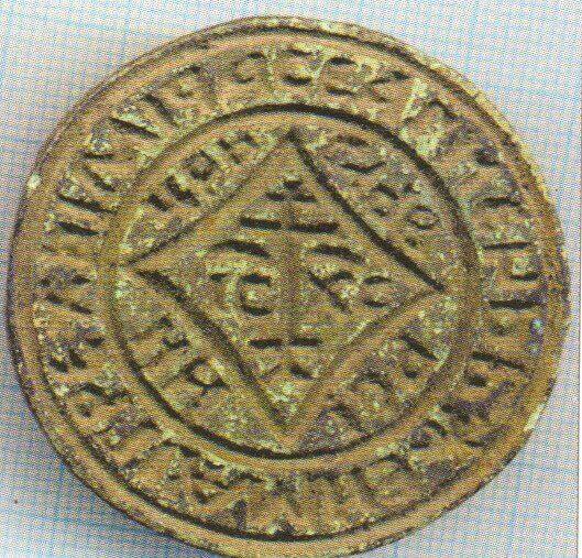 Рис. 15. Круглый дорник со вписанным ромбом, XV - XVI в
